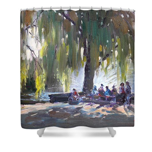 Sunday Afternoon By The Fontain Shower Curtain