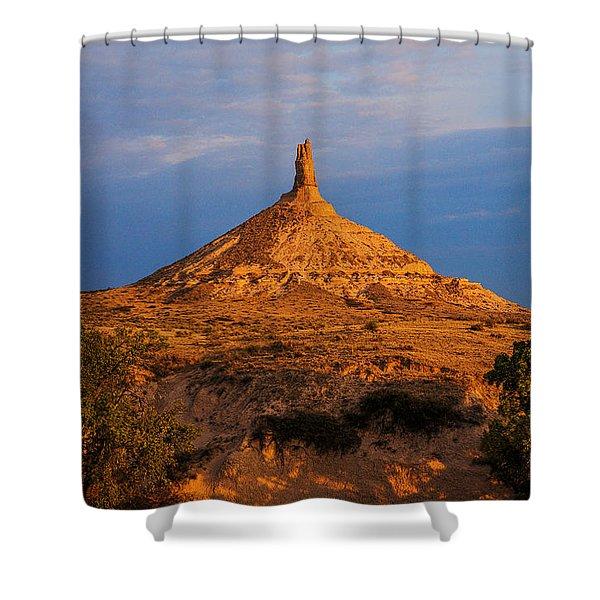 Sunrise At Chimney Rock Shower Curtain