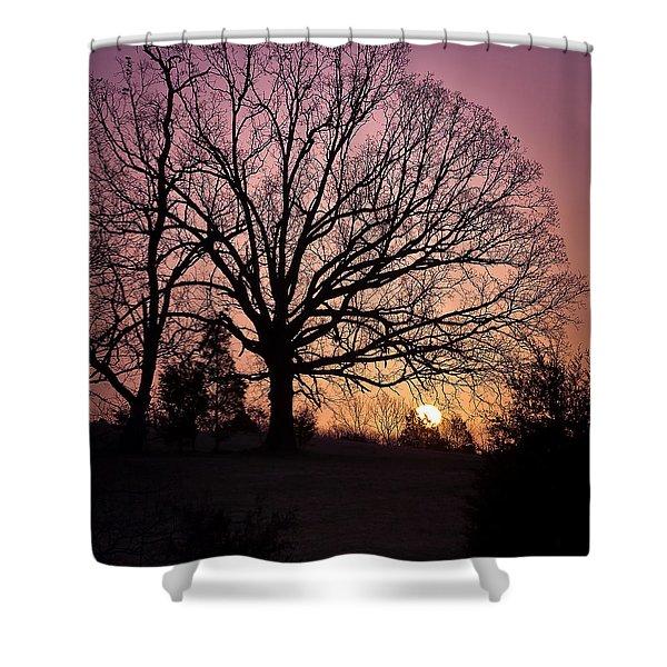Sunrise Silhouette Shower Curtain