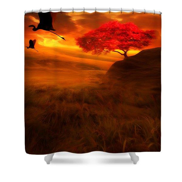 Sunset Duet Shower Curtain