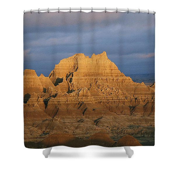 Sunset On The Claystone Buttes Shower Curtain