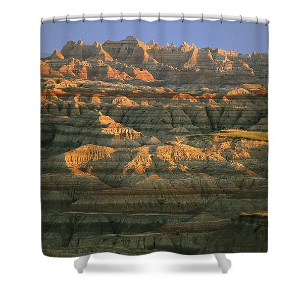 Sunset On The Geological Formations Shower Curtain