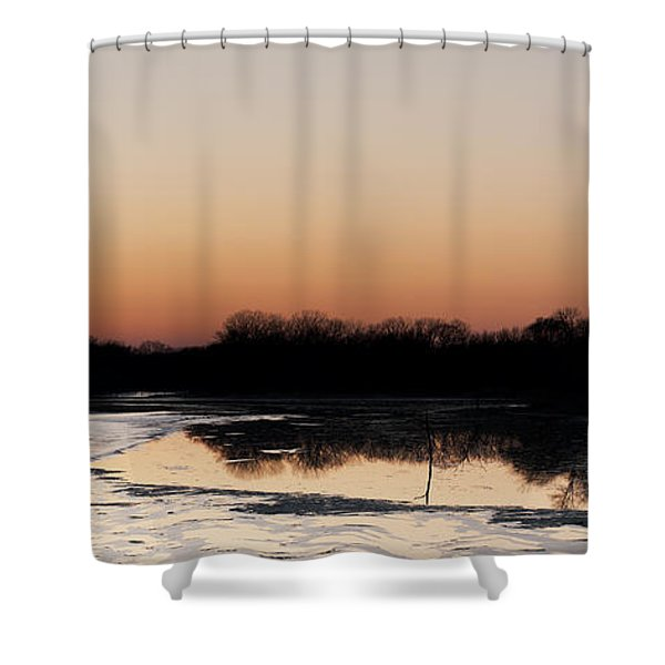Sunset Over The Republican River Shower Curtain