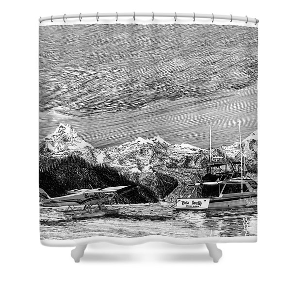 Super Cub On Floats Shower Curtain