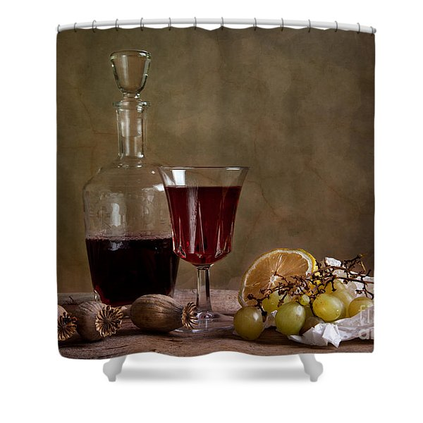 Supper With Wine Shower Curtain