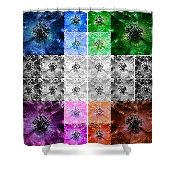 Surreal Poppies Shower Curtain