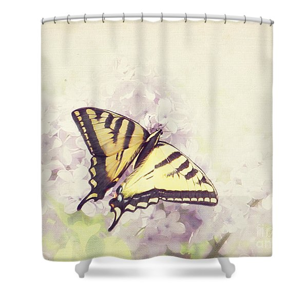 Swallowtail On Lilac Shower Curtain