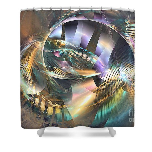 Symphony Of Colors - Abstract Art Shower Curtain