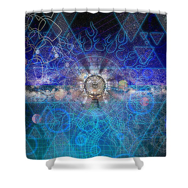 Synesthetic Dreamscape Shower Curtain