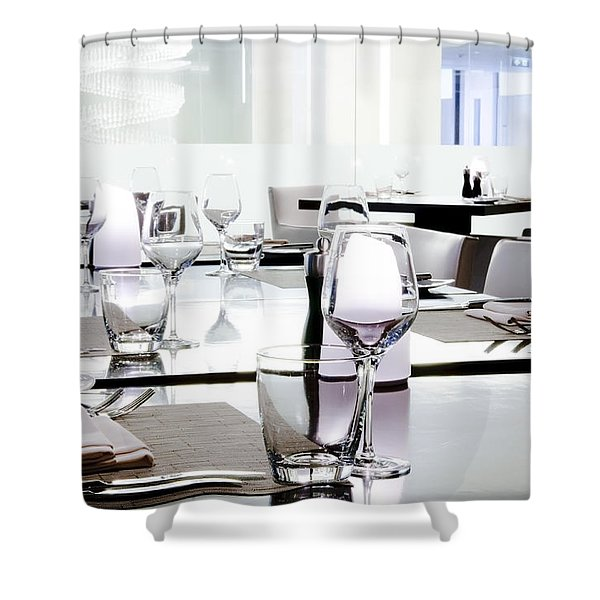 Table Setting Shower Curtain