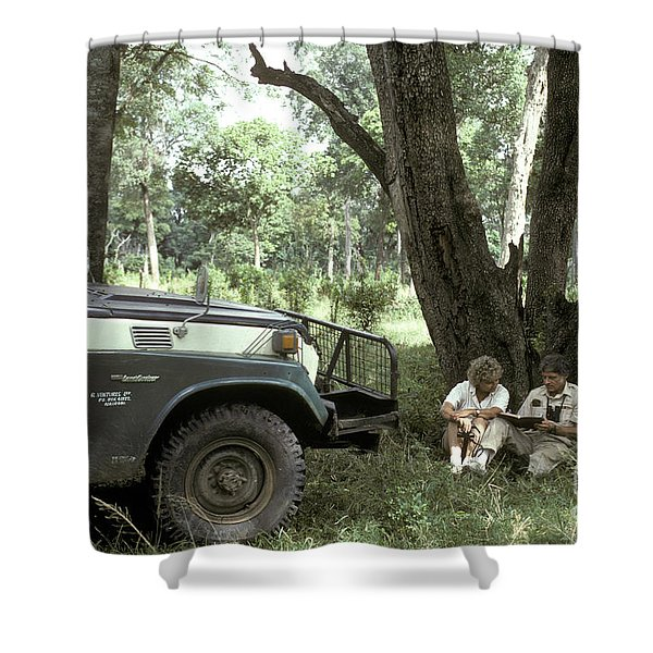 Taking Notes In Kenya, East Africa Shower Curtain