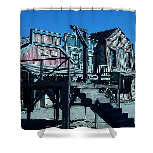 Taverna Western Village In Spain Shower Curtain