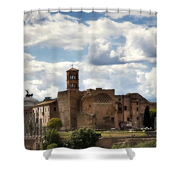 Temple Of Venus And Roma Shower Curtain
