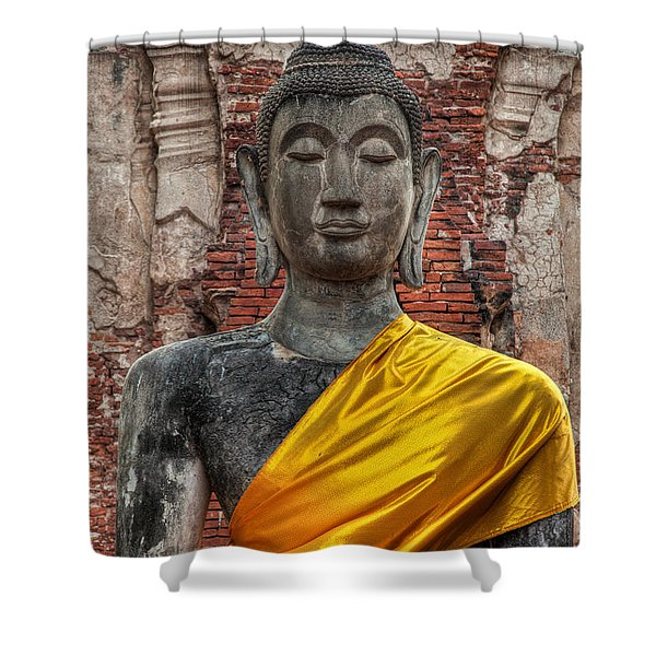 Thai Buddha Shower Curtain
