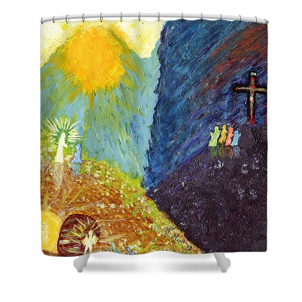Thank God For Good Friday And Easter Sunday Shower Curtain