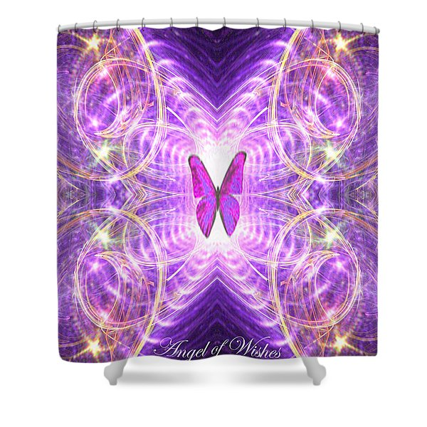 The Angel Of Wishes Shower Curtain