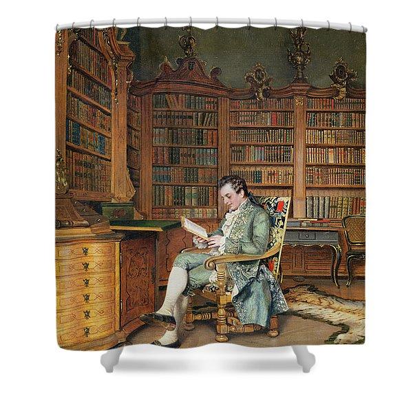 The Bibliophile Shower Curtain