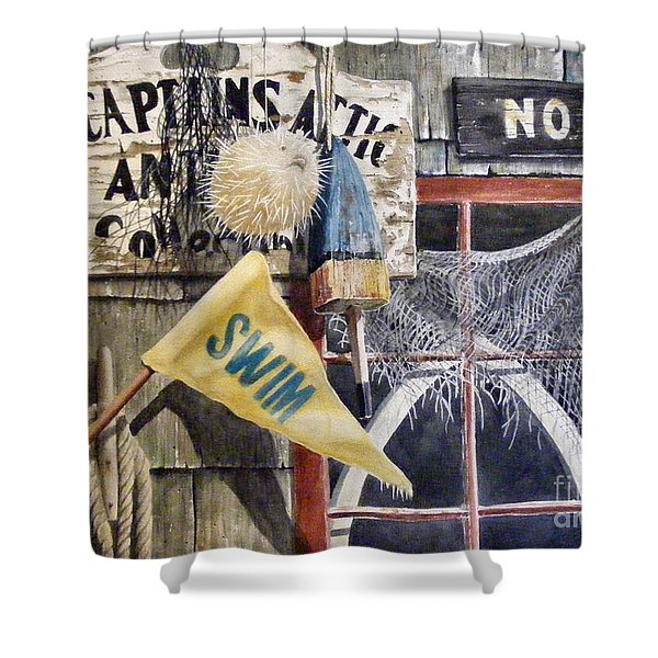 The Captains Attic Sold Shower Curtain