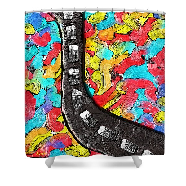 The Color Highway Shower Curtain
