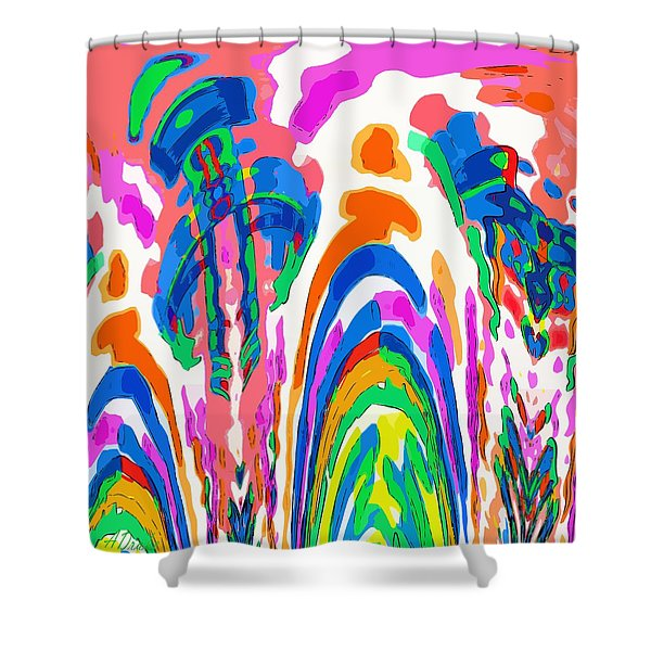 The Colors Fountain Shower Curtain