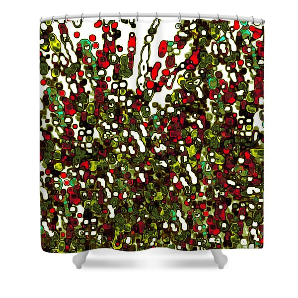 Shower Curtain featuring the digital art The Crowd by Mihaela Stancu