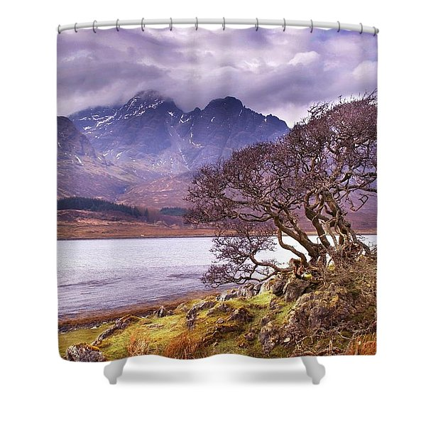 The Cuillins Skye Shower Curtain