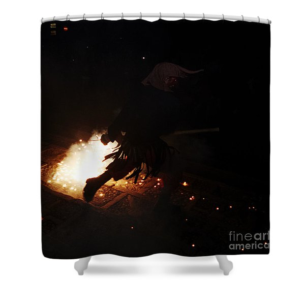 The Devil Of The Stairs Shower Curtain