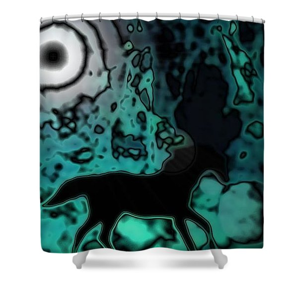 The Eclipsed Horse Shower Curtain