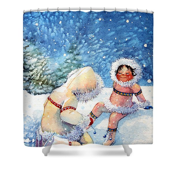 The Figure Skater 1 Shower Curtain