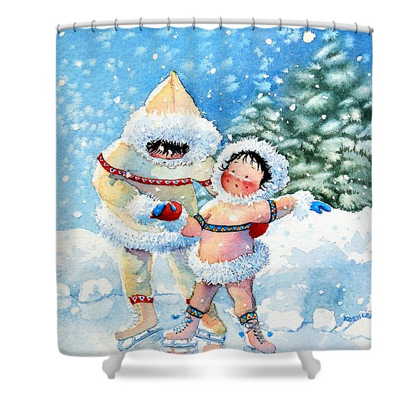 The Figure Skater 3 Shower Curtain