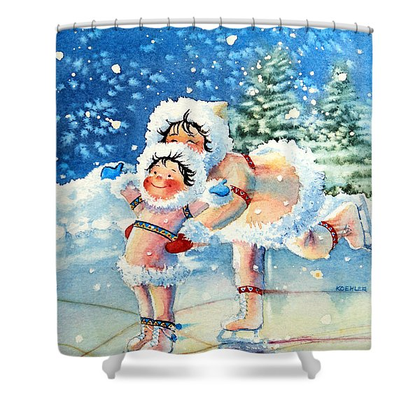 The Figure Skater 4 Shower Curtain