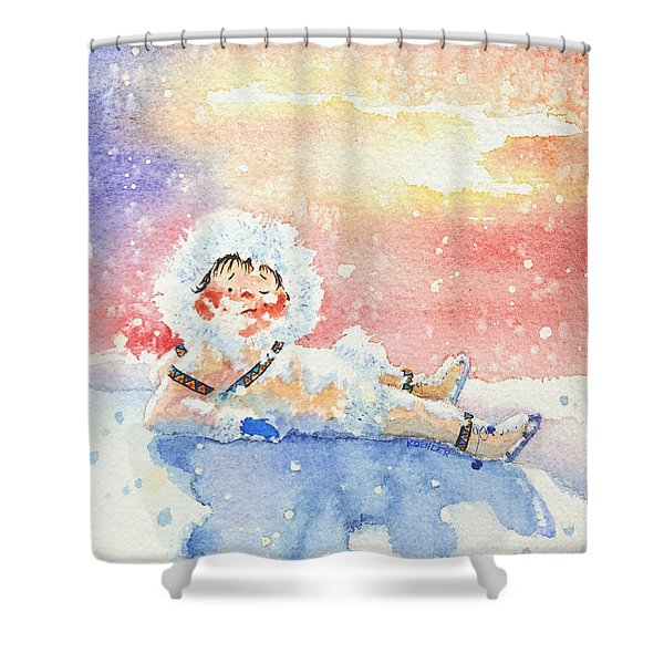 The Figure Skater 6 Shower Curtain
