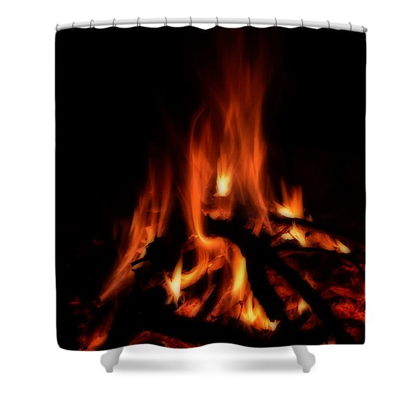 The Fire Shower Curtain