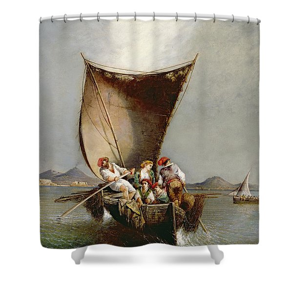 The Fisherman's Family Shower Curtain