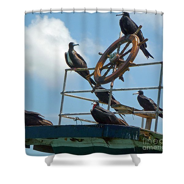 The Frigate Crew Shower Curtain