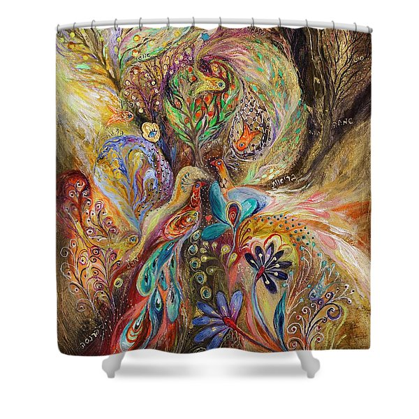 The Gold Dream Shower Curtain