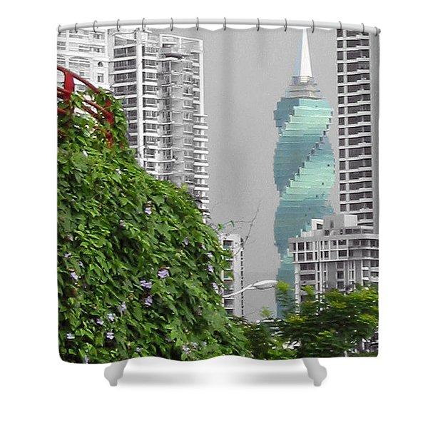 The Green Season In Panama Shower Curtain
