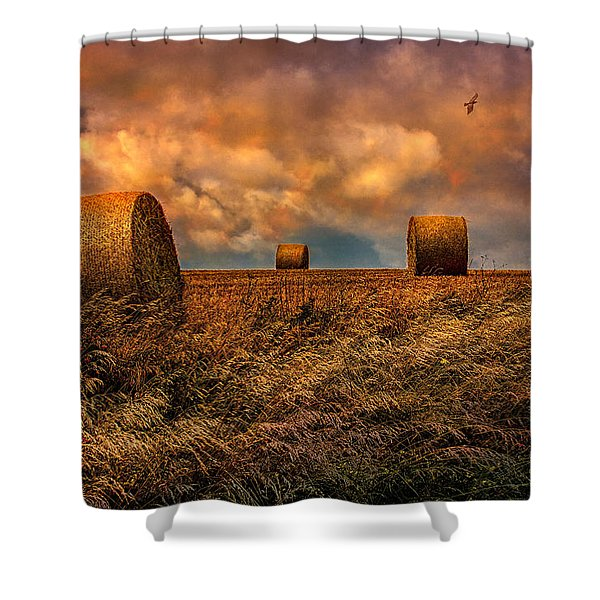 The Hayfield Shower Curtain