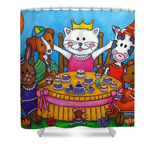 The Little Tea Party Shower Curtain
