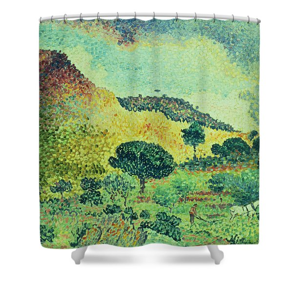 The Maures Mountains Shower Curtain