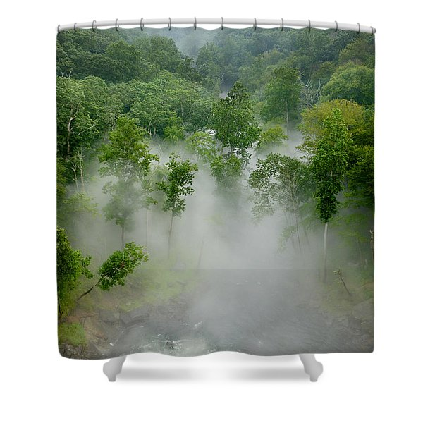 The Mist In The Valley Shower Curtain