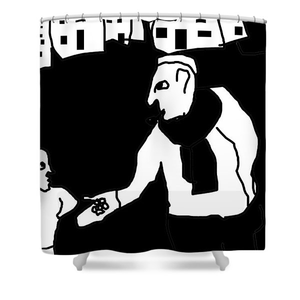The Molester Shower Curtain