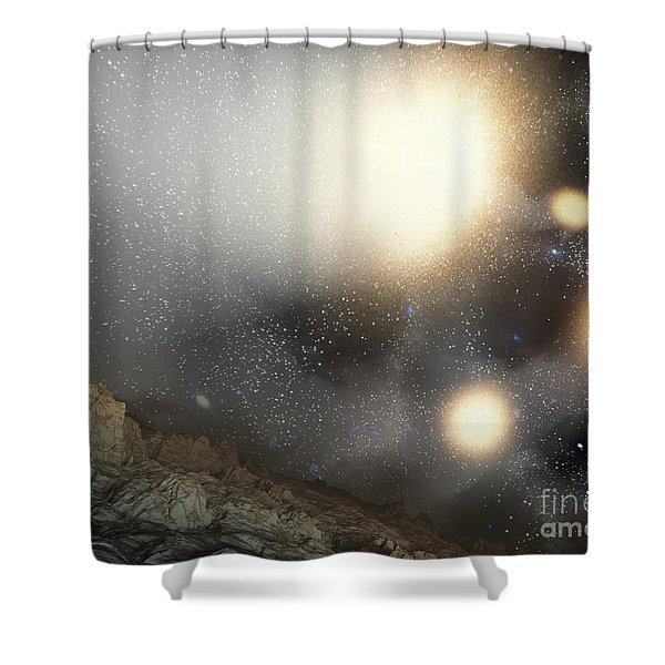 The Night Sky As Seen Shower Curtain