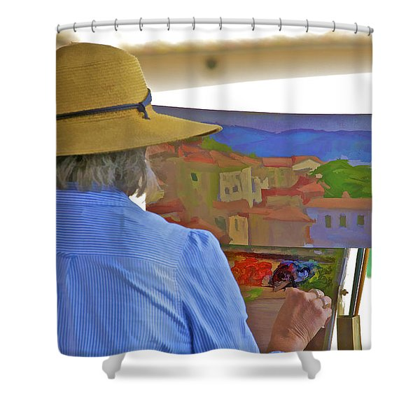 The Painter Shower Curtain
