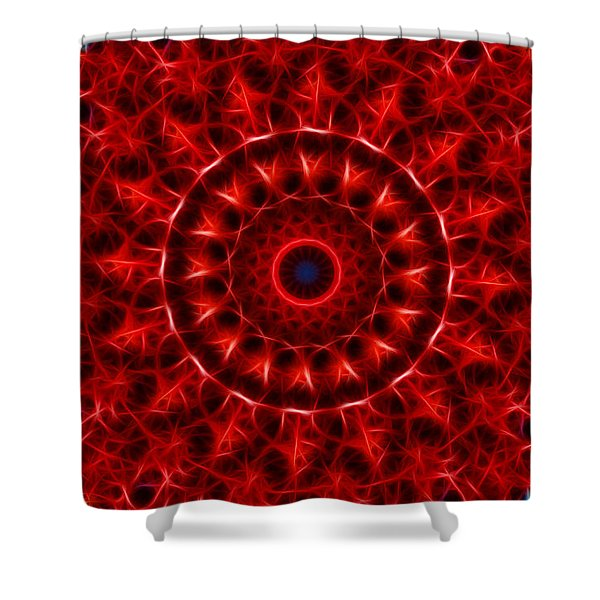 The Red Abyss Shower Curtain