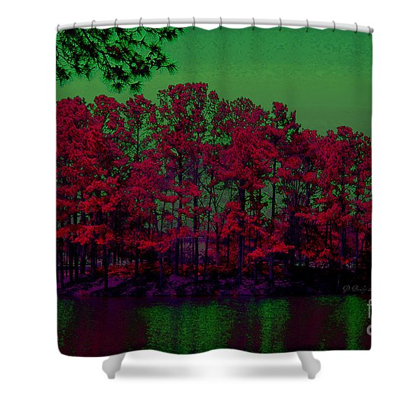The Red Forest Shower Curtain