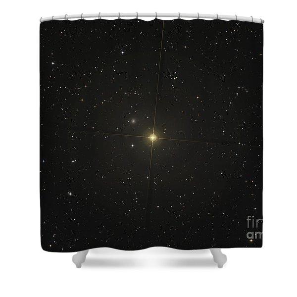 The Red Giant Star Beta Andromedae Shower Curtain