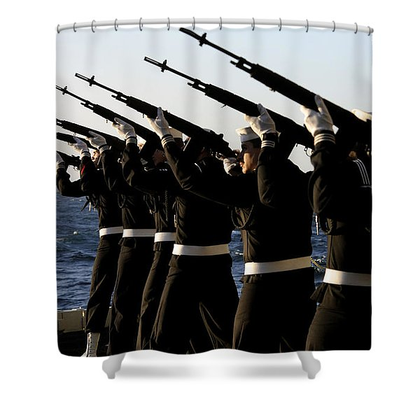 The Rifle Detail Aboard Shower Curtain