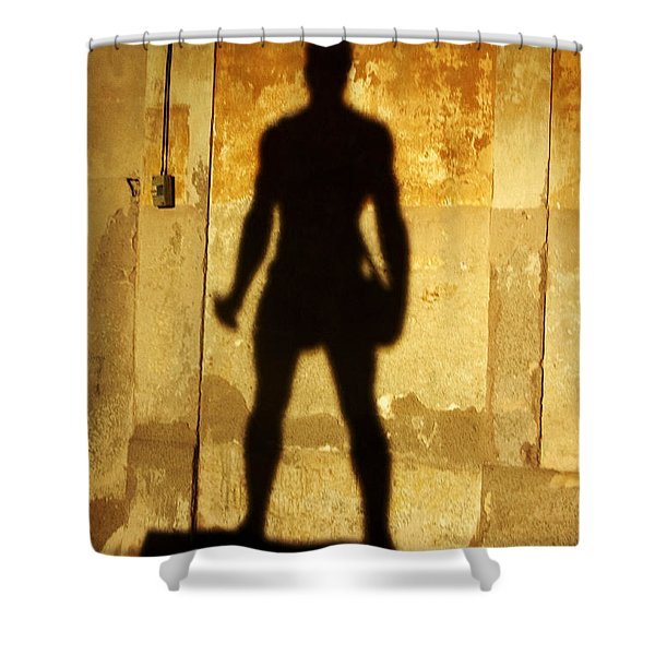 Shower Curtain featuring the photograph The Shadow Of The Statue by Agusti Pardo Rossello