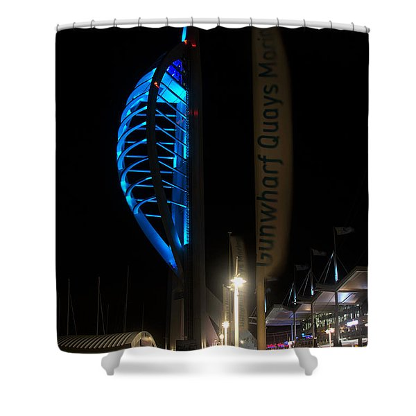 The Spinnaker At Night Portsmouth Shower Curtain